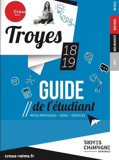 Guide de l'étudiant Troyes 2018-2019