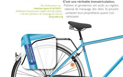 Gravage de vélos BICYCODE à la MDE le 19 et 20 septembre 2018