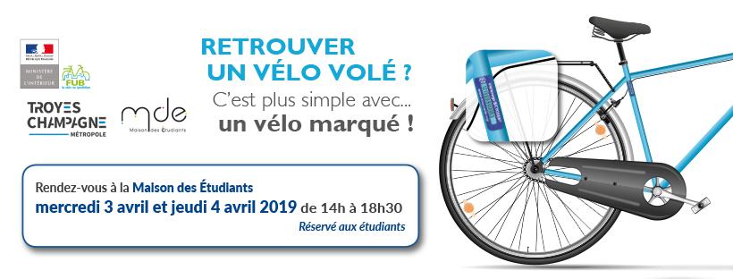 Séance de gravage de vélos BICYCODE à la MDE le 3 et 4 avril 2019
