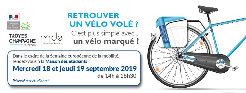 Séance de gravage de vélos BICYCODE à la MDE le 18 et 19 septembre 2019